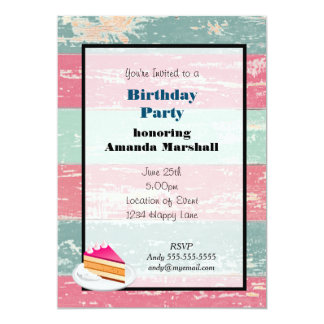 Rustic Fence Birthday party Card