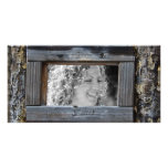 Rustic Fence Frame Photo Card