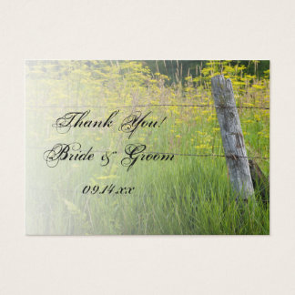 Rustic Fence Post Country Wedding Favor Tags