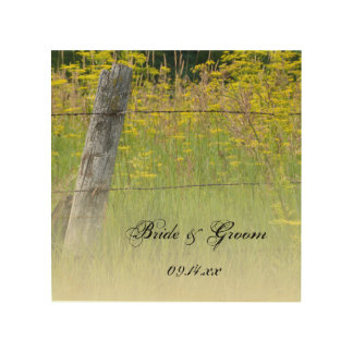 Rustic Fence Post Country Wedding Wood Wall Art