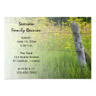 Rustic Fence Post Family Reunion Invitation