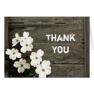Rustic Fence Wedding Thank You Stationery Note Card
