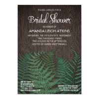 Rustic Fern Wedding Bridal Shower Invitations