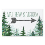 Rustic Fir Tree Wedding Sign<br><div class='desc'>Fir tree wedding sign with watercolor trees and arrow on a choose your own color background. You can customize this rustic tree wedding sign by adding your details in the font style and color of your choice.</div>