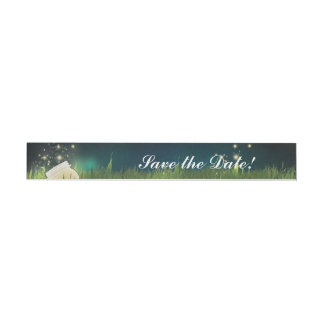 Rustic Fireflies Night Party Wrap Around Labels