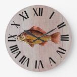 Rustic Fish Wooden Large Clock