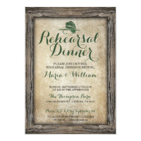 Rustic Fishing Lure Rehearsal Dinner Invitation