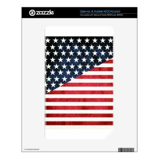 rustic flag skins for NOOK color