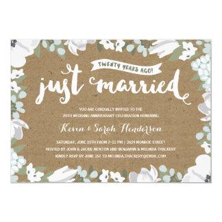 Rustic Floral | 20th Wedding Anniversary Invitation