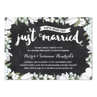Rustic Floral | 40th Wedding Anniversary Card