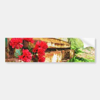 Rustic Floral and Farm Truck Bumper Sticker