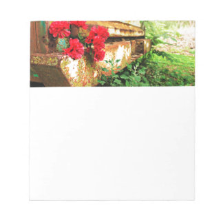 Rustic Floral and Farm Truck Notepad