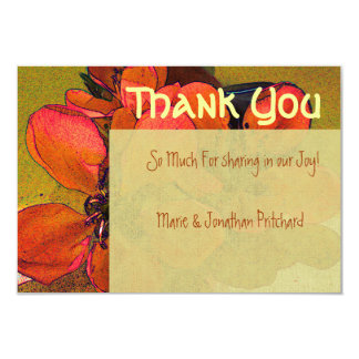 Rustic floral autumn fall Thank You wedding Personalized Invitations