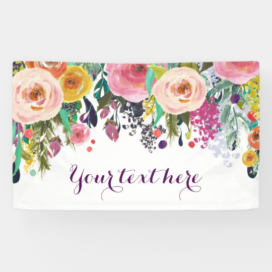 Rustic Floral Baby Shower Banner Zazzle Com