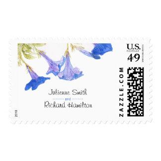 Rustic Floral | Blue Spring Wedding Postage