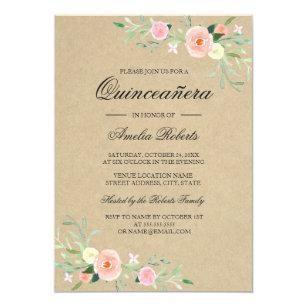 rustic quinceañera invitations zazzle