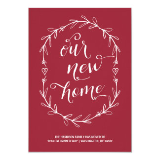 Rustic Floral | Change of Address Card