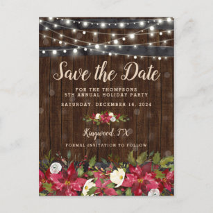christmas party save the date cards zazzle