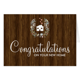 Rustic Floral Congratulations on your New Home Card