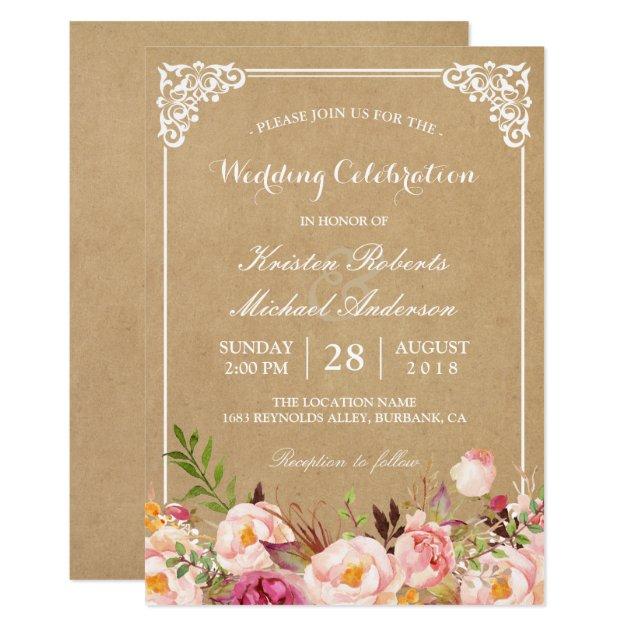 rustic wedding invitations  announcements  zazzle, invitation samples