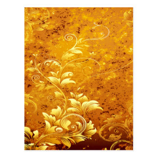 rustic,floral,gold,wavy,chic,elegant,pattern,vinta postcard