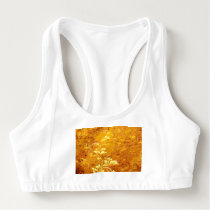 rustic,floral,gold,wavy,chic,elegant,pattern,vinta sports bra
