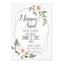 Rustic Floral Greenery Wedding Invitation