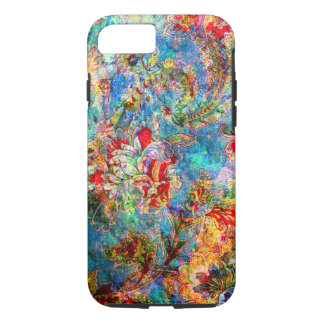 Rustic Floral Grunge Collage iPhone 7 Case