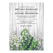 Rustic Floral - Lily of the Valley Wedding