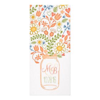rustic floral mason jar elegant wedding programs custom rack cards