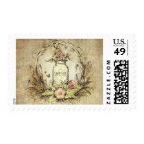 Rustic Floral Mason Jar Wedding Postage
