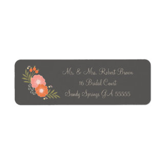 Rustic Floral Mr and Mrs. Address Labels