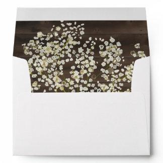 Rustic Floral on Dark Wood Envelope Liner
