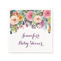Rustic Floral Personalized Napkins