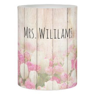 Rustic Floral Personalized Teacher Appreciation Flameless Candle