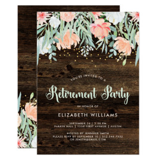 Rustic Floral | Retirement Party Invitation