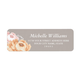 Rustic Floral Return Address Labels