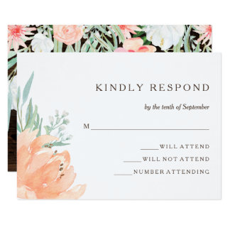 Rustic Floral Romance | Wedding Response Card