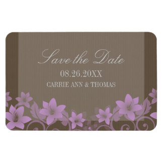 Rustic Floral Save the Date Magnet, Lilac
