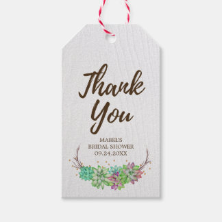 Succulent Gift Tags | Zazzle