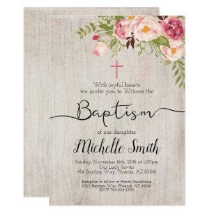 vintage baptism christening invitations zazzle
