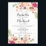 """Rustic Floral Wedding Invitation<br><div class=""""desc"""">Check out more popular styles of wedding invitations from the &quot;rustic floral wedding invitation set&quot; collection of my shop! Clicking the &quot;Customize it&quot; button will allow you to edit font color,  font and position of the text and pattern.</div>"""