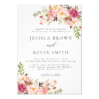 Rustic Floral Wedding Invitation-05 Invitation