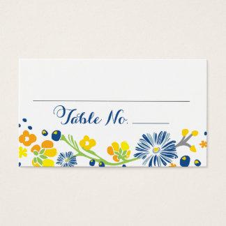 Rustic Floral Wedding Table No. Card