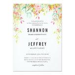 RUSTIC  FLORAL WEDDING wedding invitation