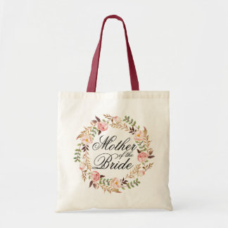 Rustic Floral Wreath Mother of the Bride Tote Bag