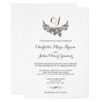 Rustic Flourish Vintage Wedding Card