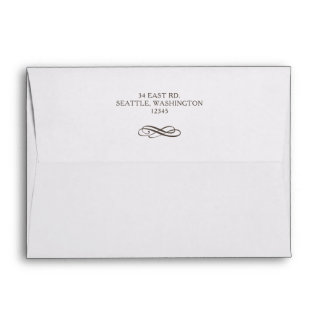 Rustic Flourish Vintage Wedding Envelope