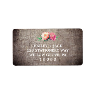 Rustic Flower Bouquet Wedding Label