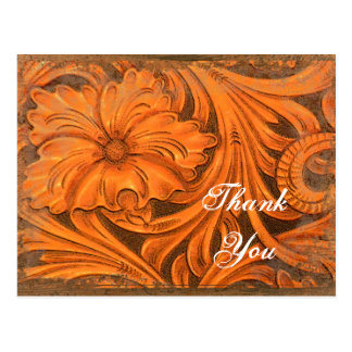 Rustic Flower Country Thank You Postcard